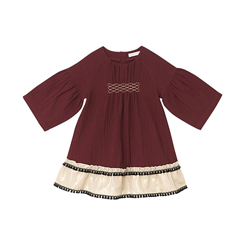 [OAKS OF ACORN] Burgundy Winona Dress