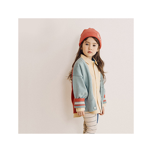 [MY LITTLE STAR] color blocked cardigan