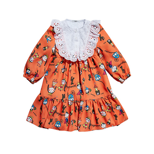 [Dimanche] Princess dress orange